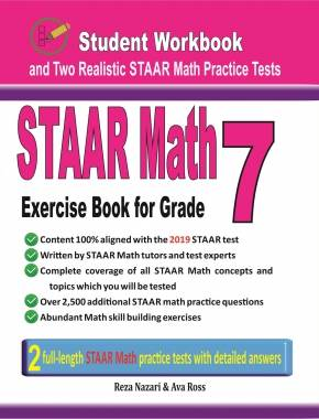 STAAR Math Exercise Book for Grade 7 Student Workbook and Two Realistic  STAAR Math Tests