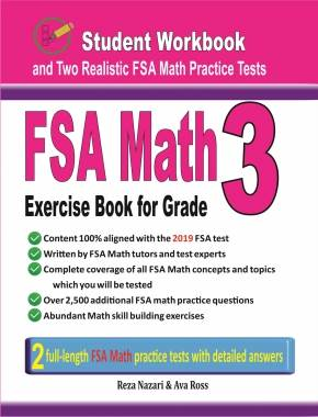 FSA Math Exercise Book for Grade 3: Student Workbook and Two