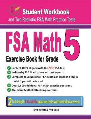 FSA Math Exercise Book for Grade 5 Student Workbook and Two Realistic FSA  Math Tests