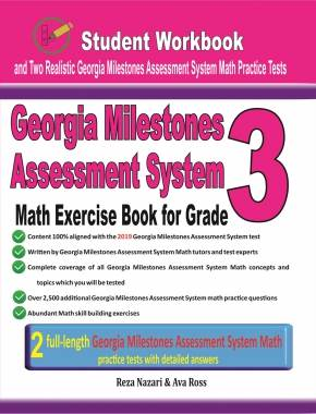 Georgia Milestones Math Exercise Book for Grade 3 Student Workbook and Two  Realistic GMAS Math Tests